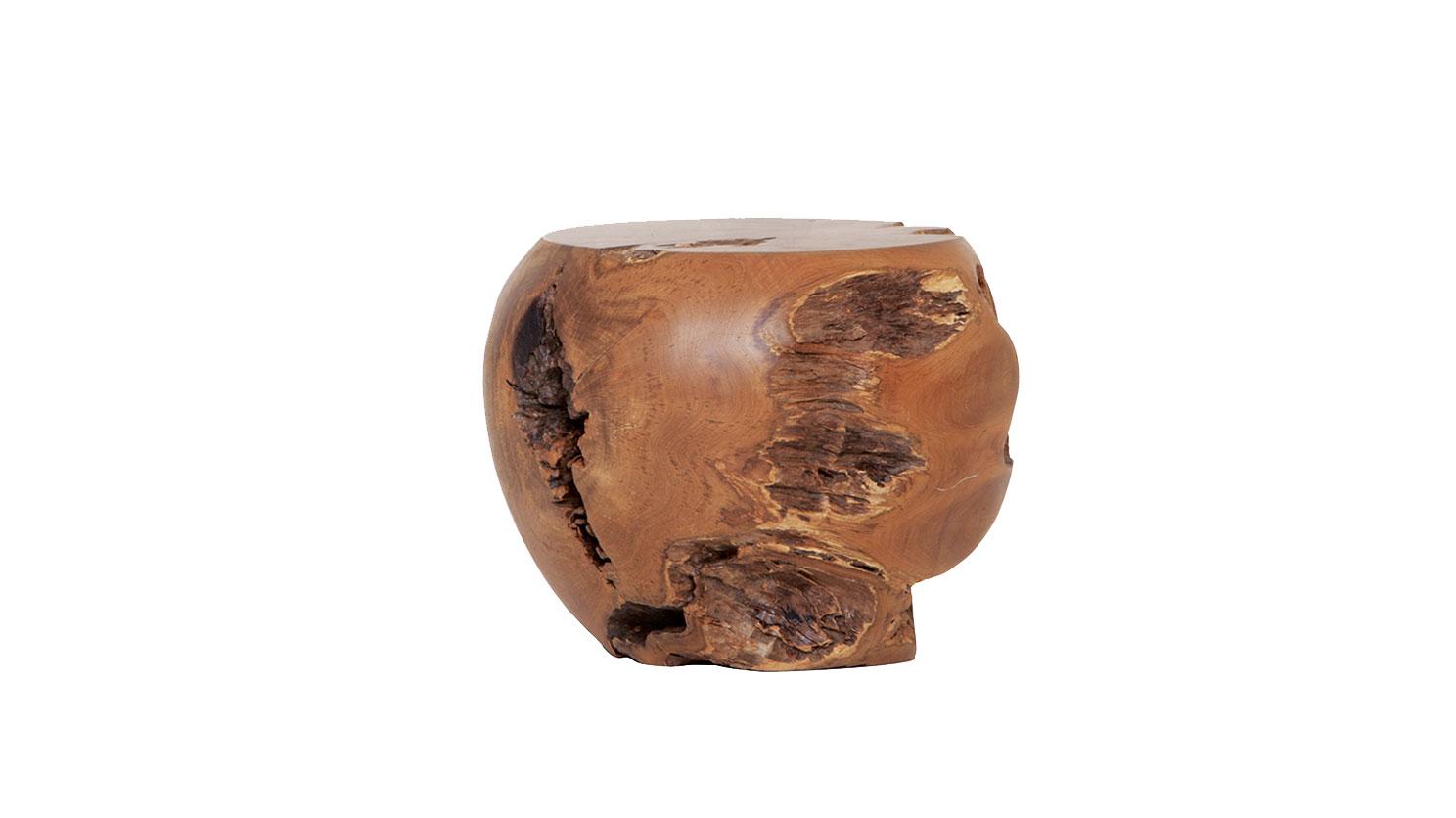 Solid Wood Stools ~ Solid teak wood stool hip