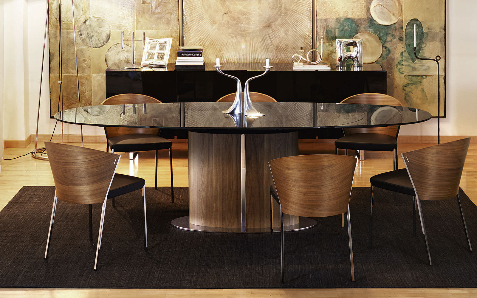 Contemporary Extending Glass Table