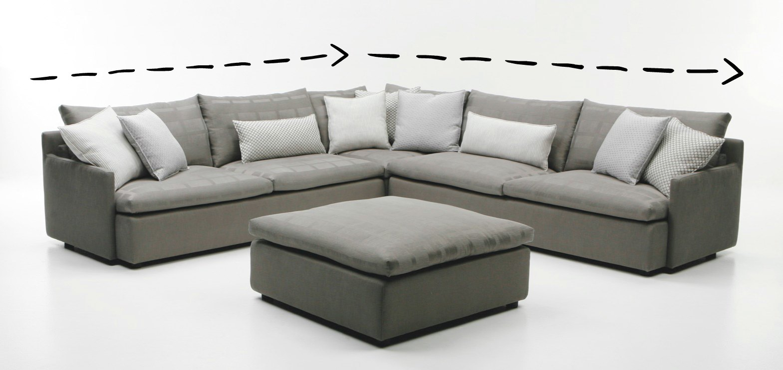 or sofa montreal fabric sectional a red steal poundex furniture ii